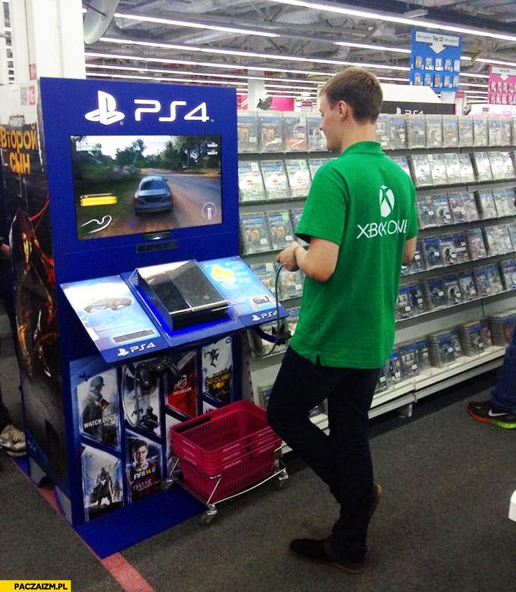 Sprzedawca x-boxa gra na PS4