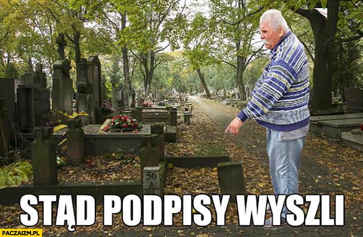 Stąd podpisy wyszli grób cmentarz nagrobek