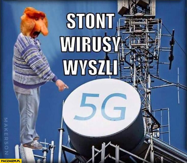 Stąd wirusy wyszli masz nadajnik 5G typowy Polak nosacz małpa