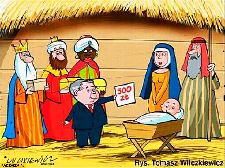 Stajenka Betlejem narodziny Jezusa Kaczyński 500zł na dziecko