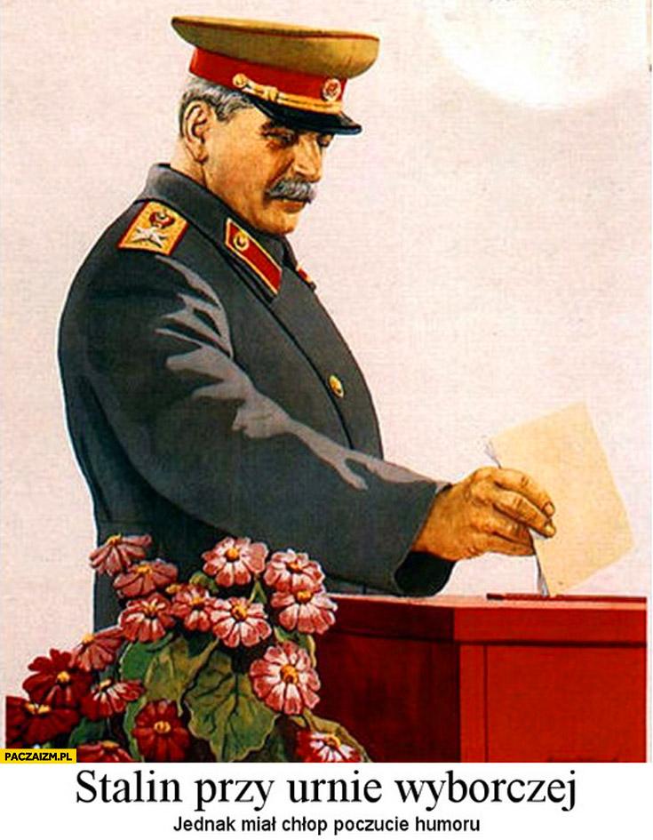Stalin przy urnie wyborczej jednak miał chłop poczucie humoru