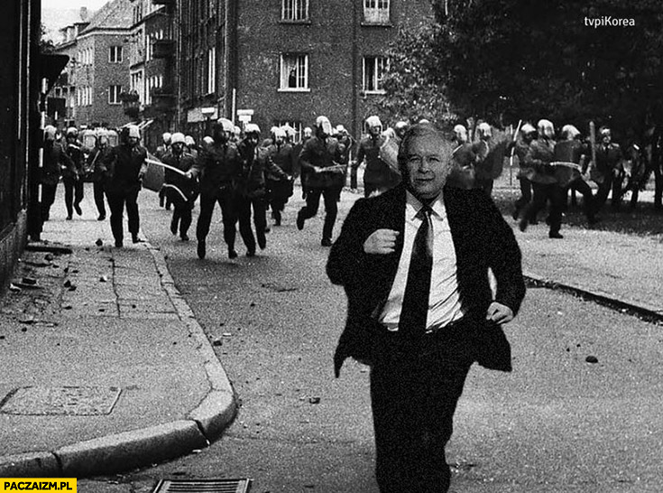 Stan wojenny 13 grudnia Jarosław Kaczyński wmontowany przeróbka photoshop
