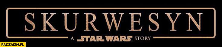 Star Wars Rogue One skurwesyn tłumaczenie tytułu