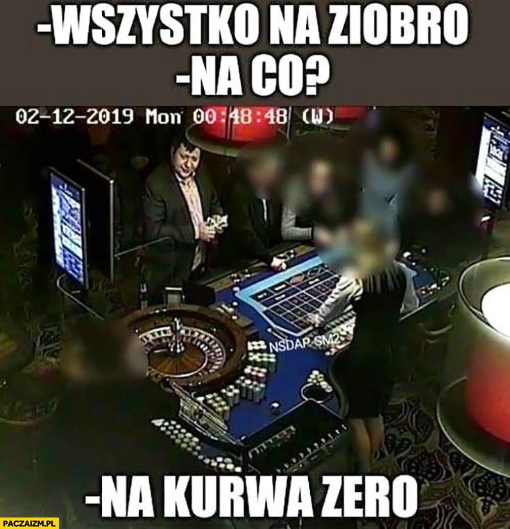 Stonoga w kasynie wszystko na Ziobro na co na kurna zero
