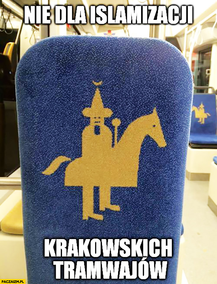 Stop nie islamizacji krakowskich tramwajów lajkonik