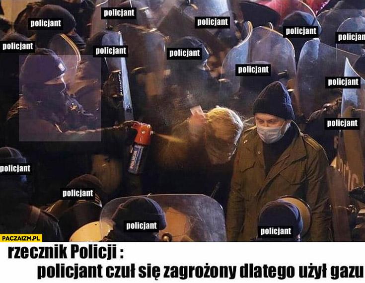 Strajk kobiet rzecznik policji policjant czuł się zagrożony dlatego użył gazu Nowacka posłanka