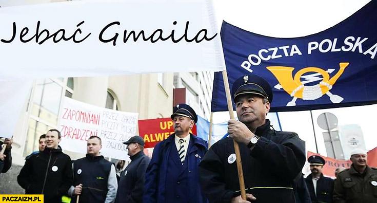 Strajk Poczta Polska pieprzyc jechać gmaila jak strajk protest taksówkarzy