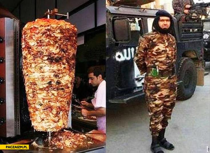 Strój żołnierza jak kebab