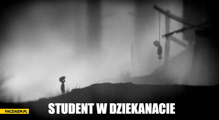 Student w dziekanacie