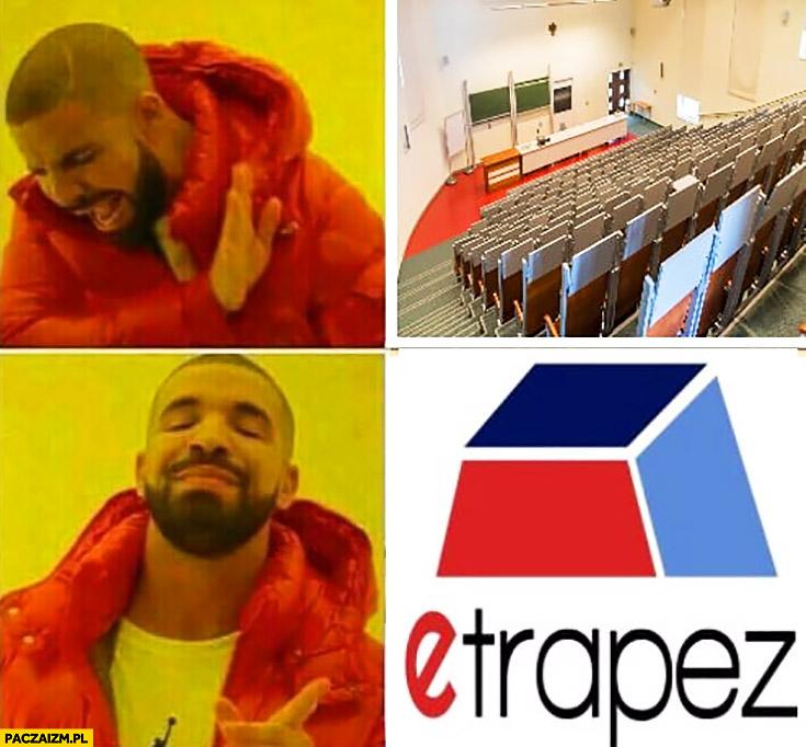 Studia matematyka wykład nie chce woli etrapez Drake