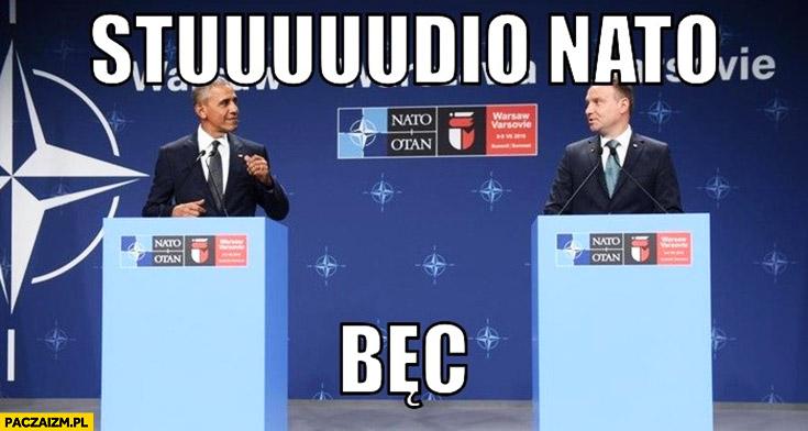 Studio NATO bęc Obama Andrzej Duda