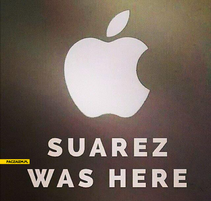 Suarez was here Apple logo