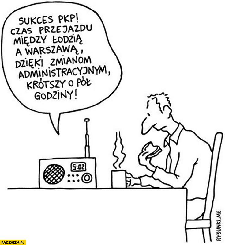 Sukces PKP: czas przejazdu miedzy Łodzią a Warszawą dzięki zmianom administracyjnym krótszy o pół godziny