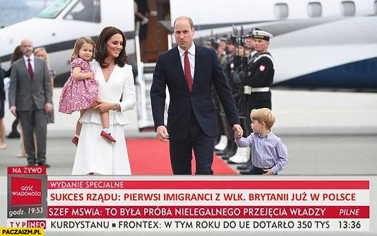Sukces rządu: pierwsi imigranci z Wielkiej Brytanii już w Polsce Książę William Księżna Kate wiadomości TVP