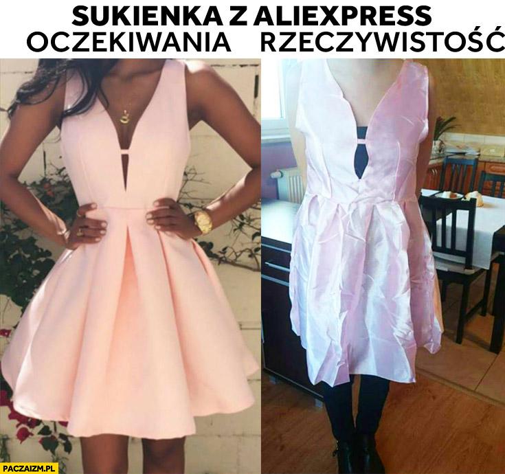 Sukienka z AliExpress oczekiwania rzeczywistość