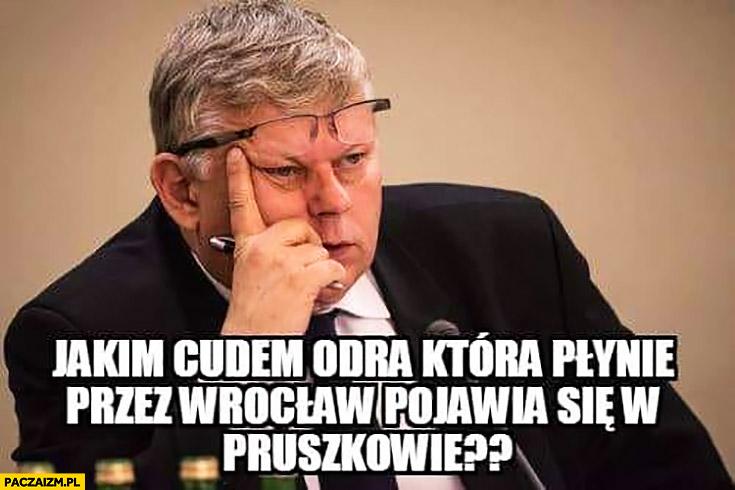 Suski jakim cudem Odra, która płynie przez Wrocław pojawia się w Pruszkowie?