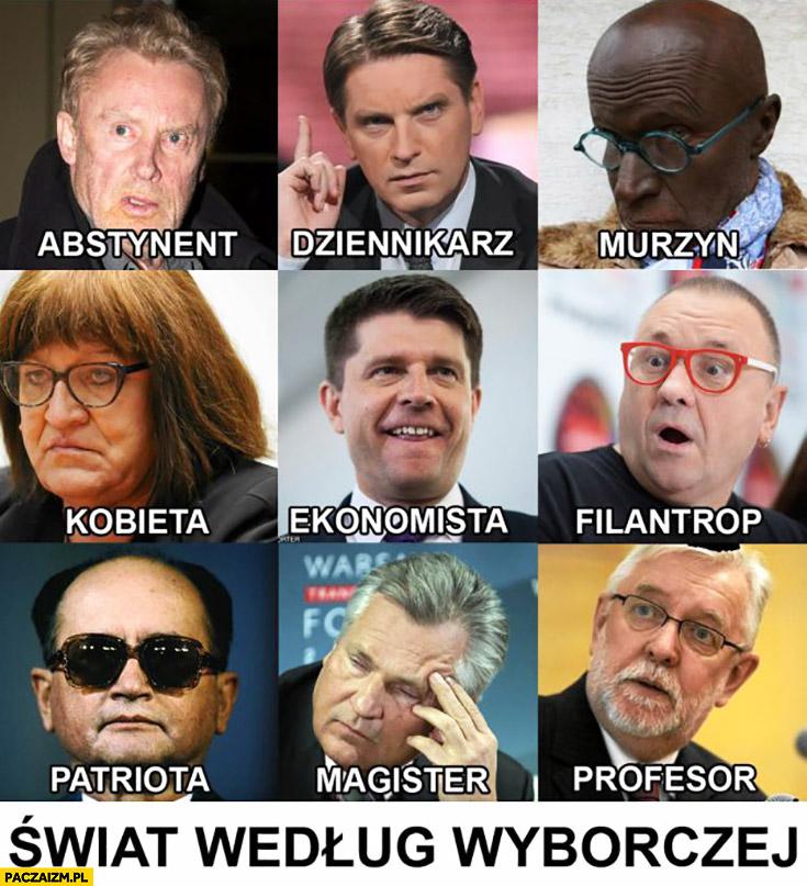 Świat według Gazety Wyborczej – abstynent, dziennikarz, murzyn, kobieta, ekonomista, filantrop, patriota, magister, profesor