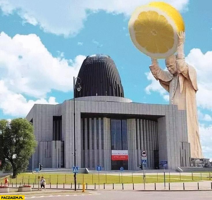 Świątynia Opatrzności papież z cytryna głaz kamień wyciskarka przeróbka