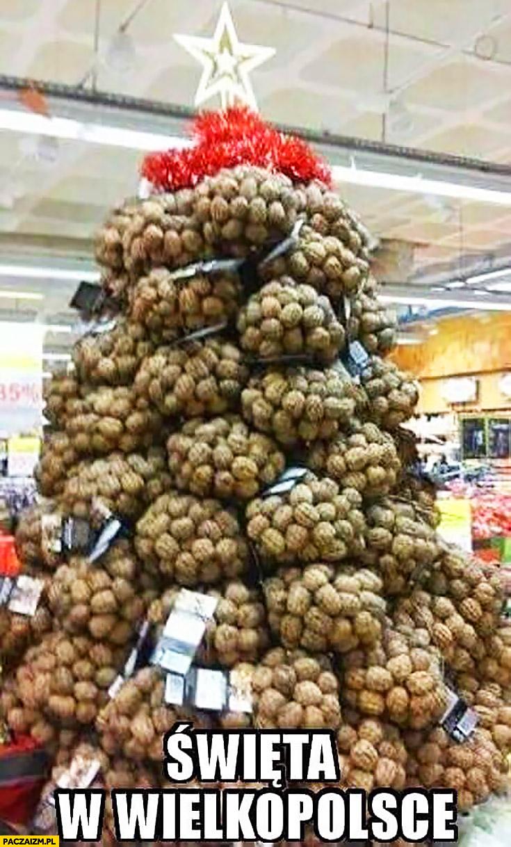 Święta w Wielkopolsce choinka z ziemniaków