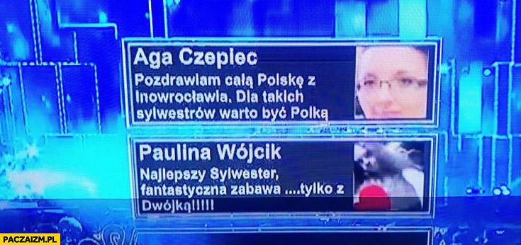 Sylwester TVP fejkowe komentarze widzów