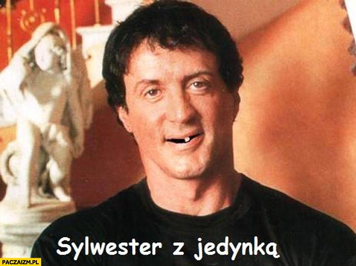 Sylwester z jedynką Stallone ząb