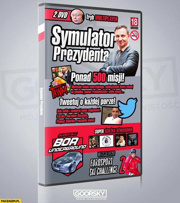 Symulator prezydenta gra komputerowa Andrzej Duda: ponad 500 misji, tweetuj o każdej porze, Eurosport ski challenge goorsky