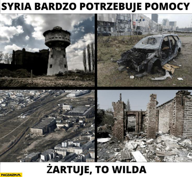 Syria bardzo potrzebuje naszej pomocy, żartuję to Wilda Poznań
