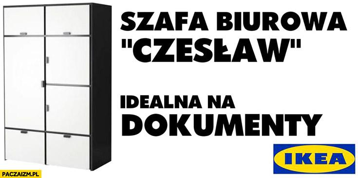 Szafa biurowa Czesław idealna na dokumenty Ikea Kiszczak Wałęsa Bolek