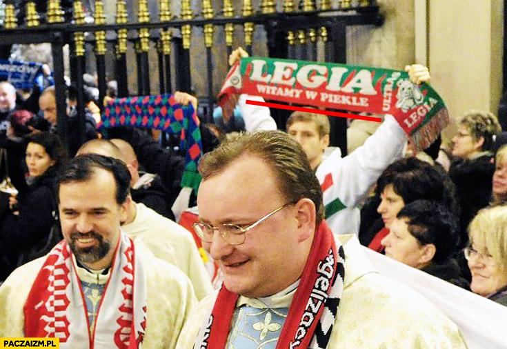 Szalik Legia witamy w piekle na mszy