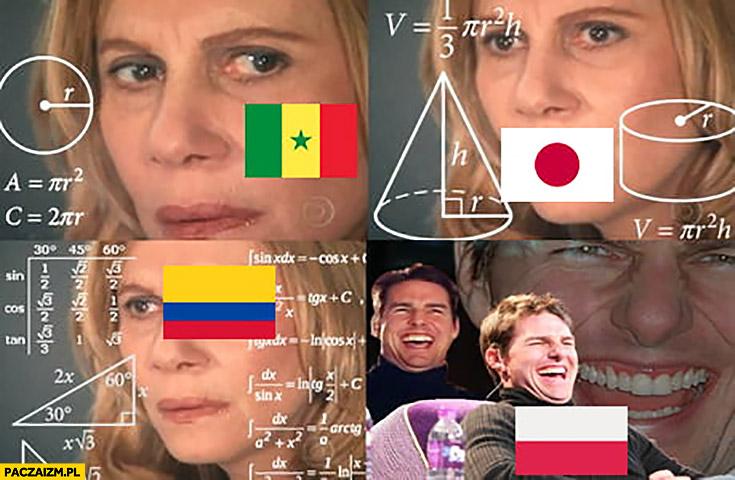 Szanse matematyczne na wyjście z grupy Senegal Japonia Kolumbia liczą, Polska nie wychodzi śmieje się Tom Cruise