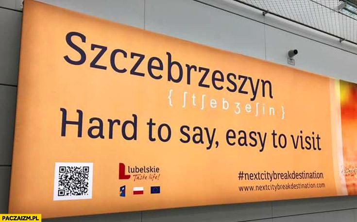 Szczebrzeszyn ciężko wymówić, łatwo odwiedzić kreatywna reklama
