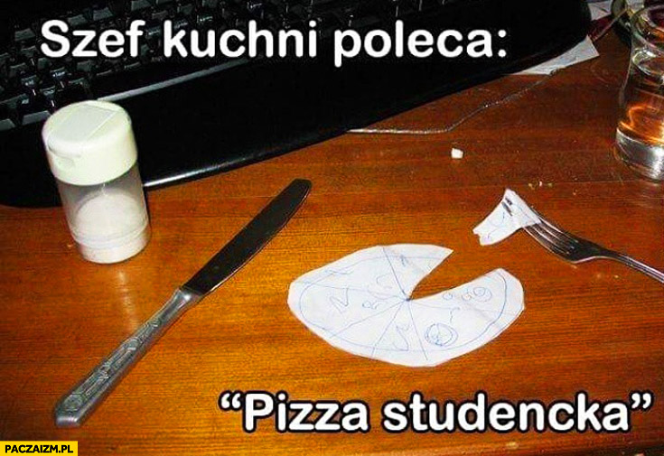 Szef kuchni poleca pizza studencka