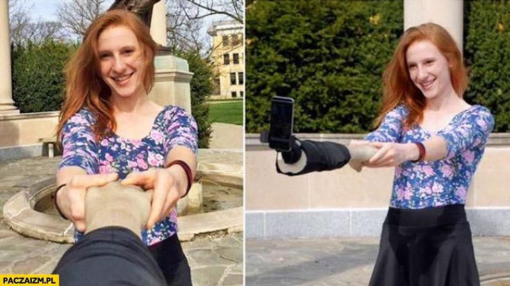 Sztuczna ręka do selfie