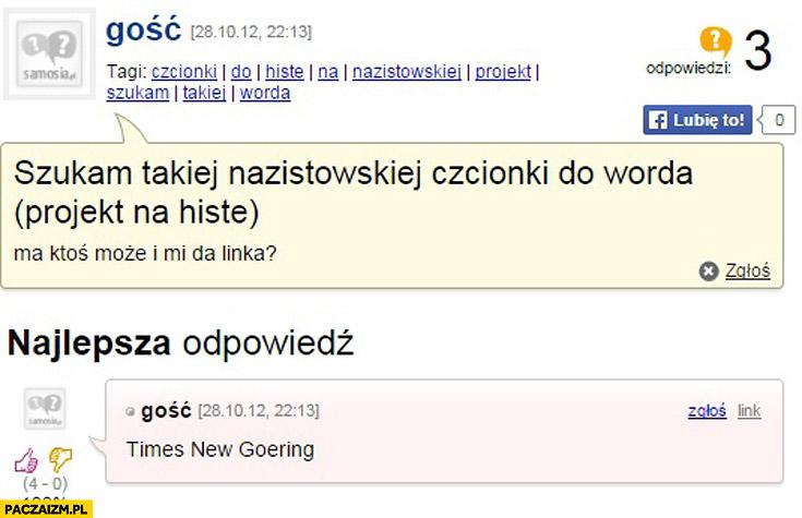 Szukam nazistowskiej czcionki do Worda Times New Goering