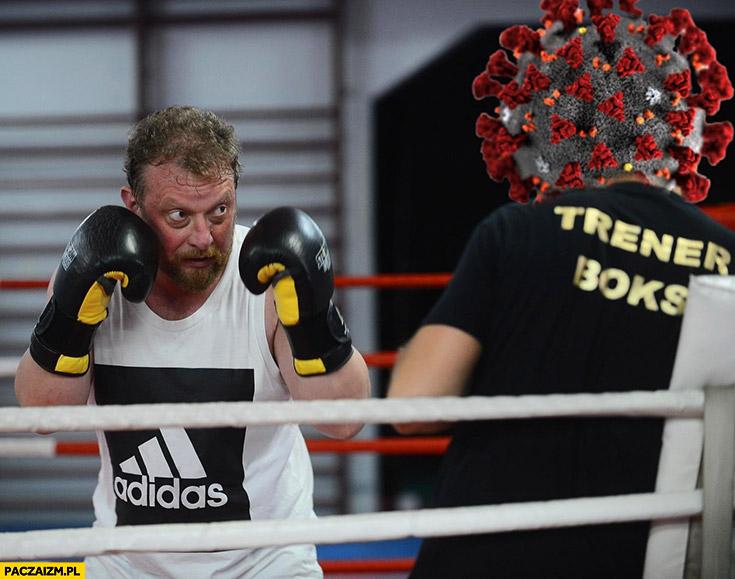 Szumowski minister zdrowia boks walka z koronawirusem boksuje na ringu