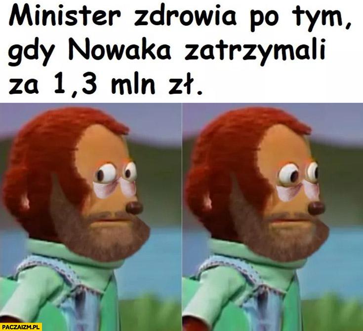 Szumowski minister zdrowia po tym gdy zatrzymali Sławomira Nowaka za 1,3 mln złotych łapówki zdziwiony