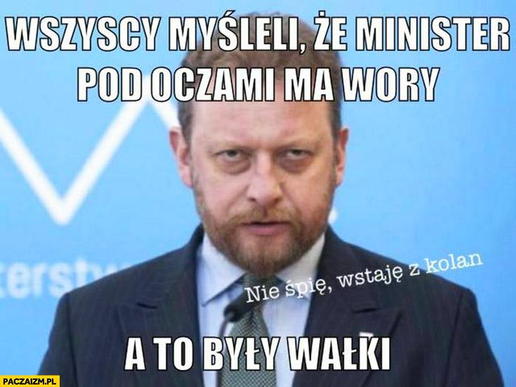 Szumowski wszyscy myśleli, że minister pod oczami ma wory a to były wałki