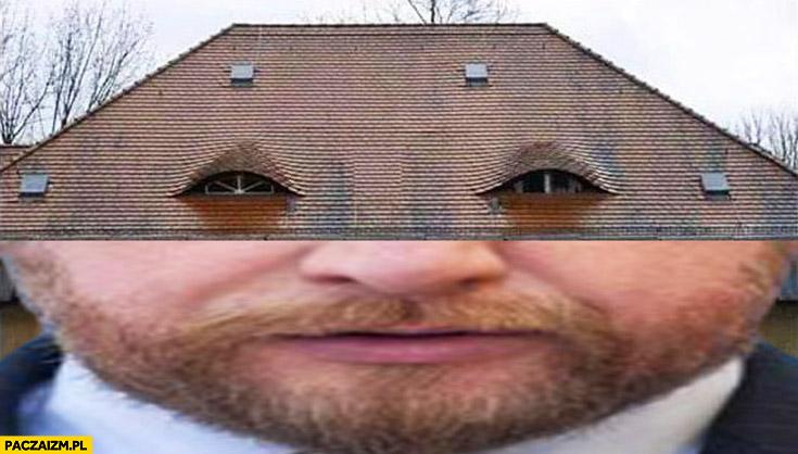 Szumowski zmęczone oczy wygląda jak dom dachówka