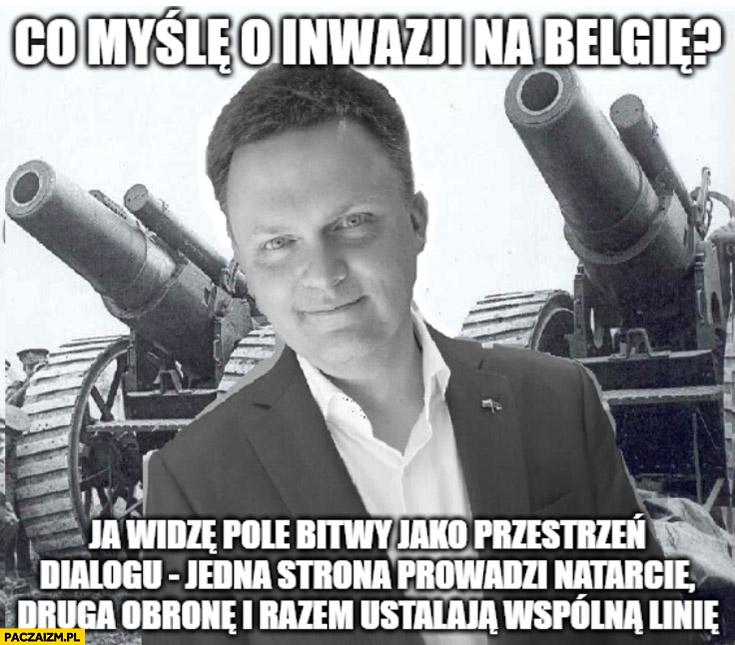 Szymon Hołownia co myślę o inwazji na Belgię? Pole bitwy jako przestrzeń dialogu