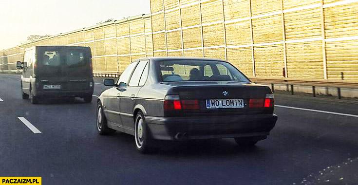 Tablice rejestracyjne Wołomin W0 LOMIN stare BMW