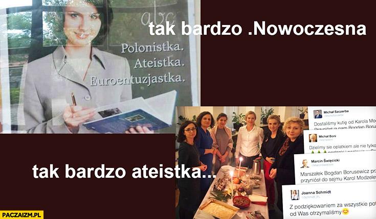 Tak bardzo Nowoczesna, tak bardzo ateistka. Myszka agresorka Kamila Gasiuk-Pihowicz wigilia w sejmie