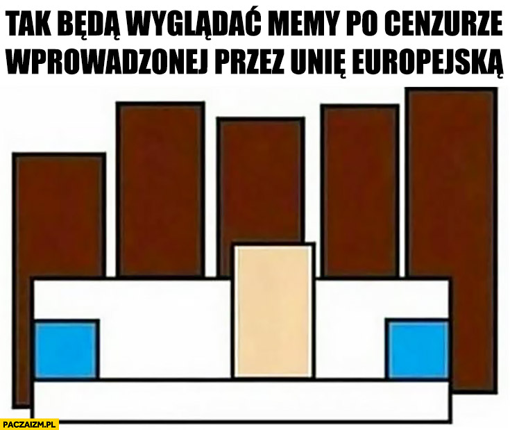 Tak będą wyglądać memy po cenzurze wprowadzonej przez Unię Europejską murzyni biała dziewczyna na kanapie