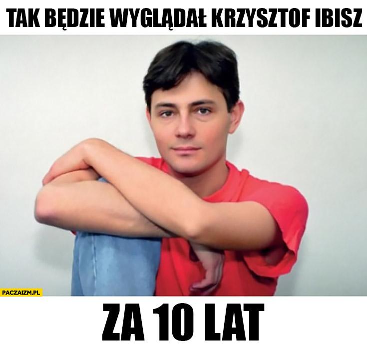 Tak będzie wyglądał Krzysztof Ibisz za 10 lat zdjęcie z młodości