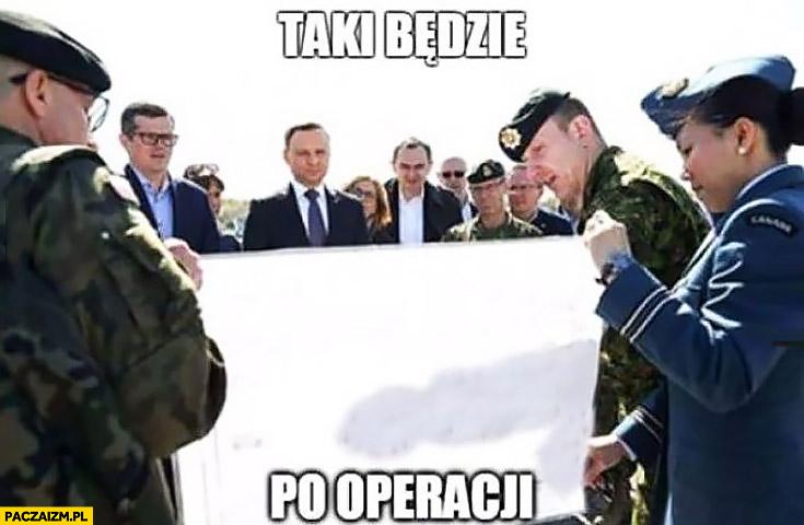 Taki będzie po operacji Andrzej Duda podziwia męskość przyrodzenie