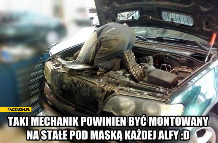 Taki mechanik powinien być montowany na stałe pod maską każdej Alfy