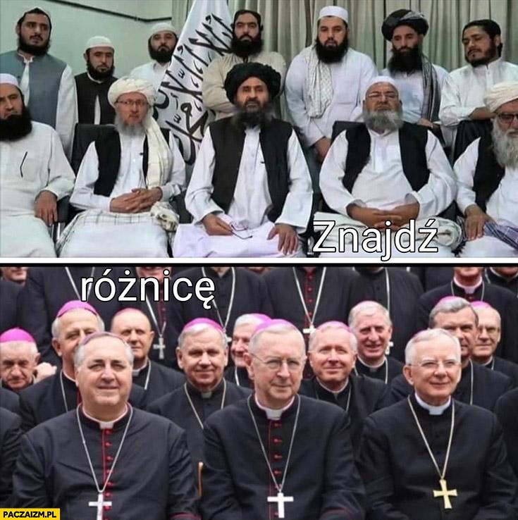 Talibowie w Afganistanie księża w Polsce znajdź różnicę