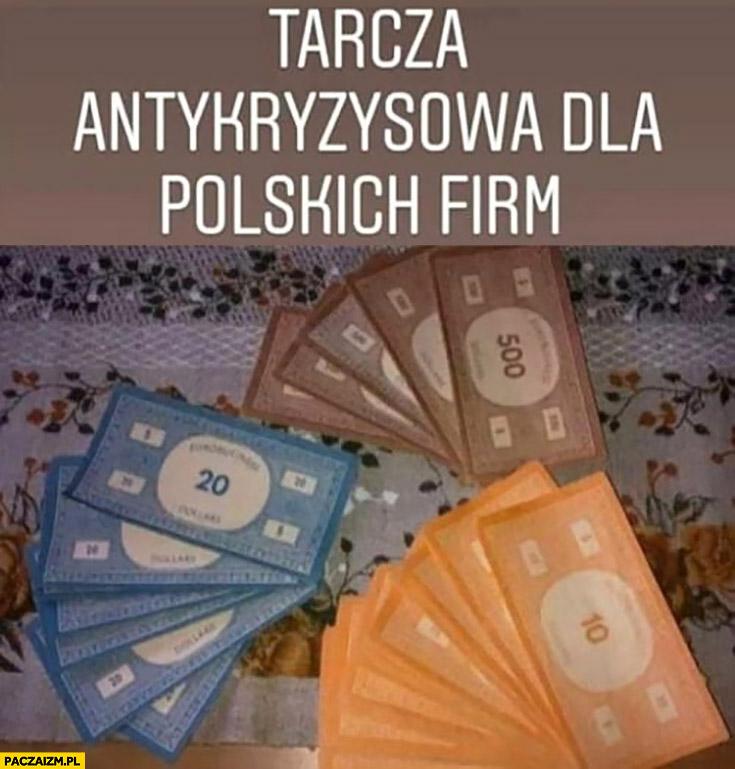 Tarcza antykryzysowa dla polskich firm pieniądze z monopoly eurobiznes