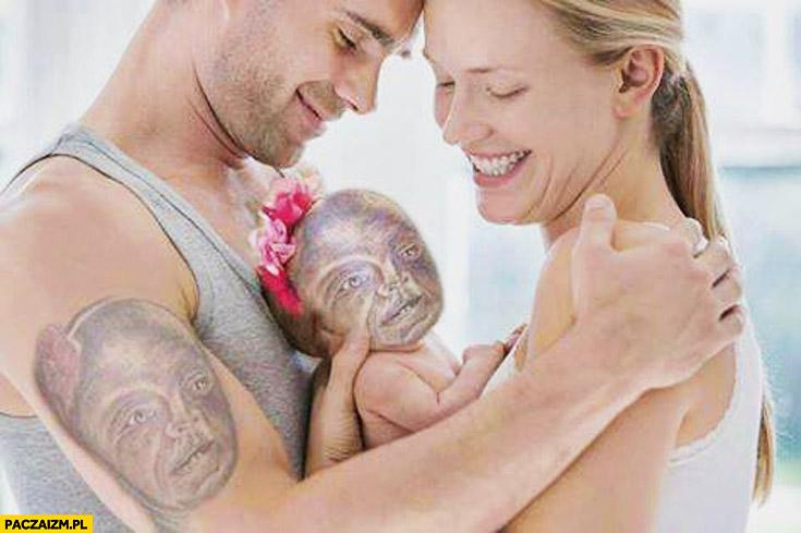 Tatuaż dziecka na ramieniu fail
