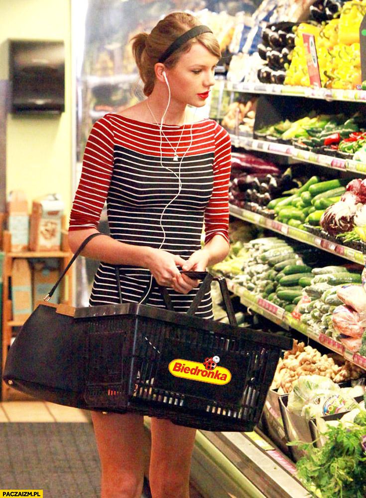 Taylor Swift na zakupach w biedronce