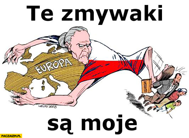Te zmywaki są moje Polska wygania imigrantów rysunek
